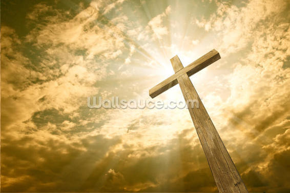 Cross Against the Sky Wallpaper Wall Murals