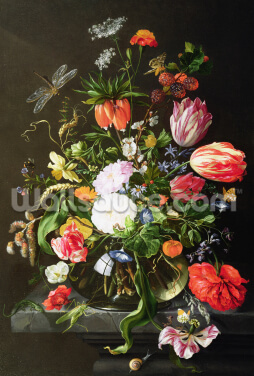 Still Life of Flowers, by Jan Davidsz de Heem Wallpaper Wall Murals