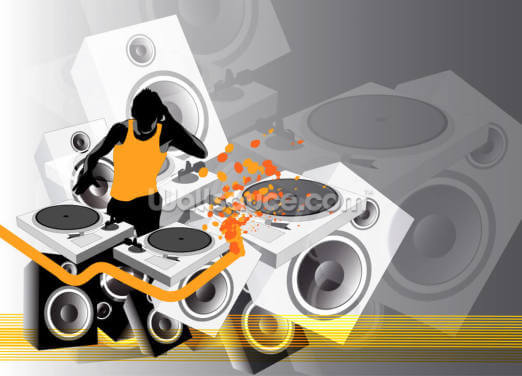 DJ Music Wallpaper Wall Murals