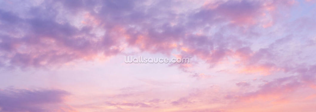 Pink Clouds Wallpaper Wall Murals