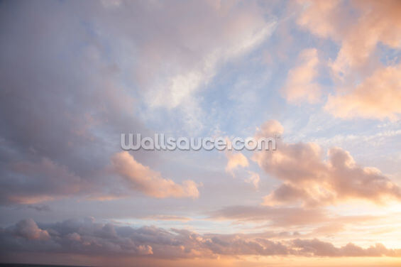 Creamy Coloured Clouds Wallpaper Wall Murals