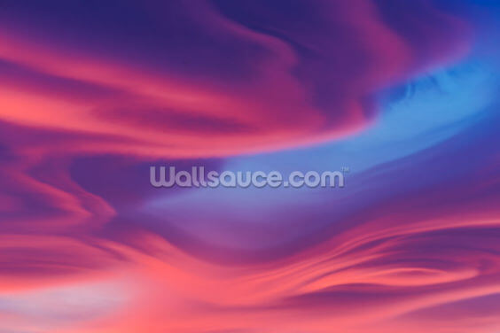 Moody Lenticular Clouds at Sunset Wallpaper Wall Murals
