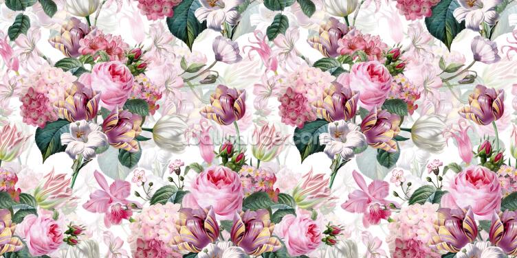 Floral Romance Wallpaper Wall Murals