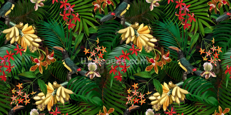 Orchid Jungle Wallpaper Wall Murals