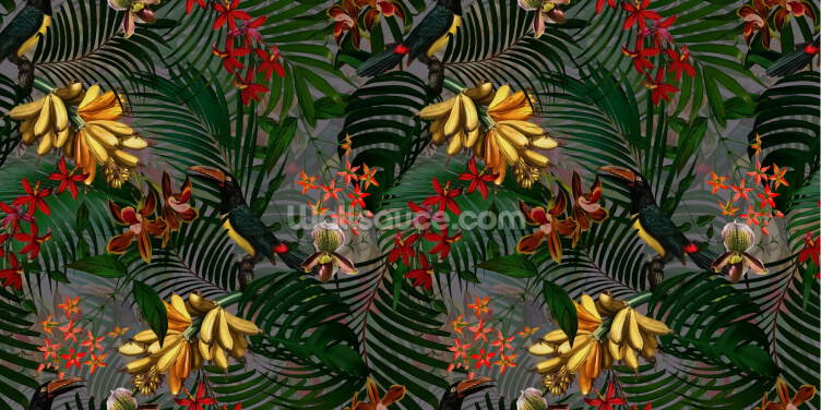 Palm Leaf Paradise Wallpaper Wall Murals
