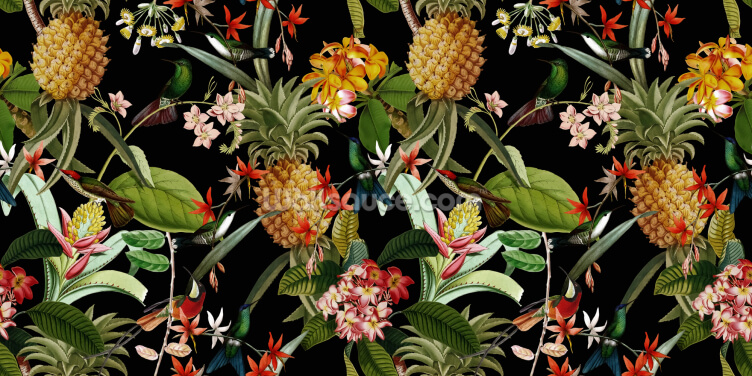 Pineapple Paradise Wallpaper Wall Murals