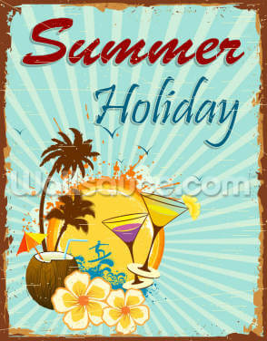 Summer Holiday Wallpaper Wall Murals