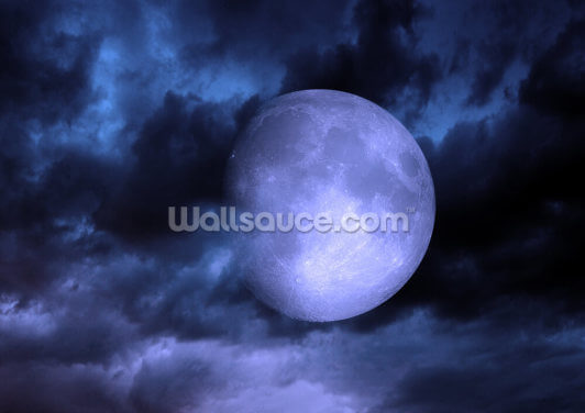 Blue Moon Wallpaper Wall Murals