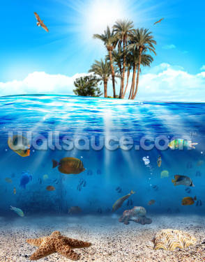 Underwater Scene Wallpaper Wall Murals