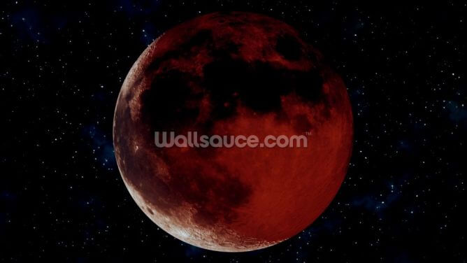 Blood Moon Wallpaper Wall Murals