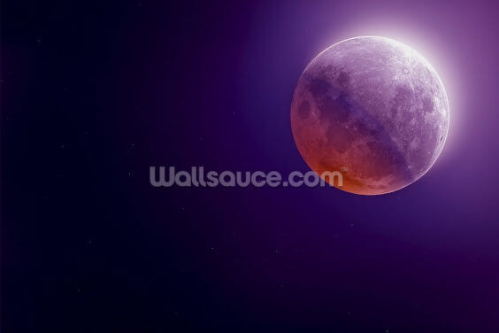 Purple Moon Wallpaper Wall Murals
