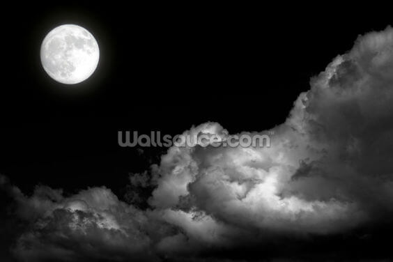 Smokey Moon Wallpaper Wall Murals