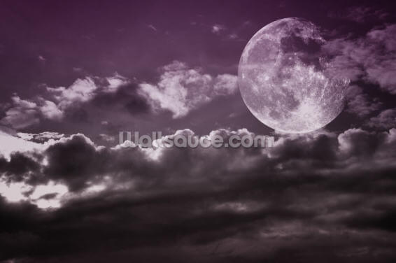 Lilac Moon Wallpaper Wall Murals