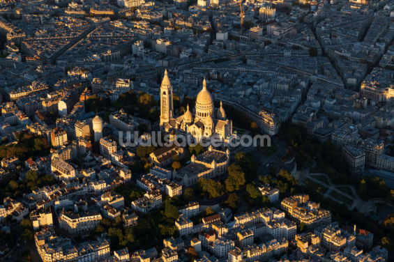 Aerial View Sacre Coeur Wallpaper Wall Murals