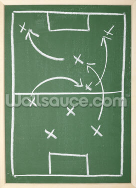 Football Chalkboard Wallpaper Wall Murals
