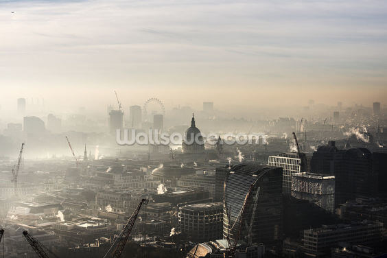Foggy London Town Wallpaper Wall Murals