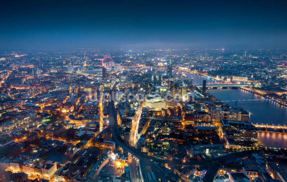 London at Night Wallpaper Wall Murals