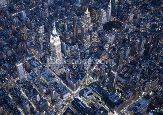 Empire State Aerial View Wallpaper Wall Murals