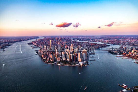 Aerial View of Manhattan Wallpaper Wall Murals
