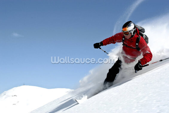 Telemark Skiing Wallpaper Wall Murals