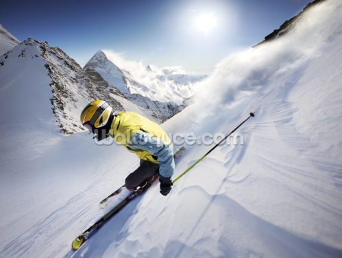 Skier Wallpaper Wall Murals