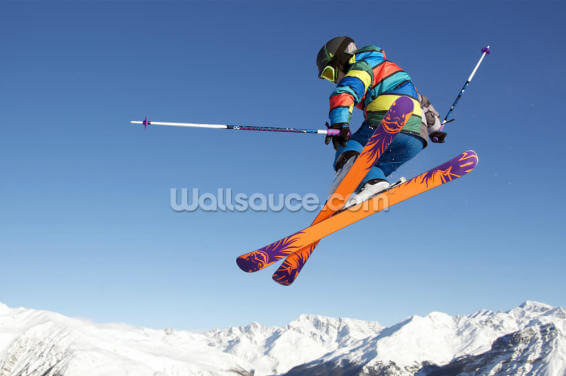 Extreme Skiing Wallpaper Wall Murals