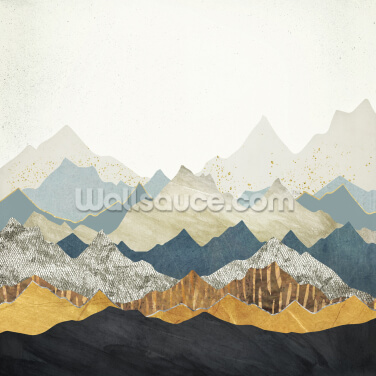 Distant Peaks Wallpaper Wall Murals