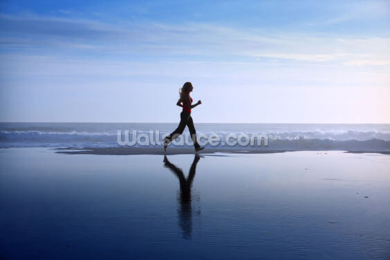 Woman Jogging Wallpaper Wall Murals