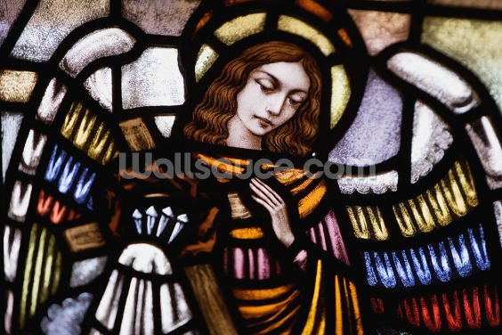 Stained Glass Angel Wallpaper Wall Murals