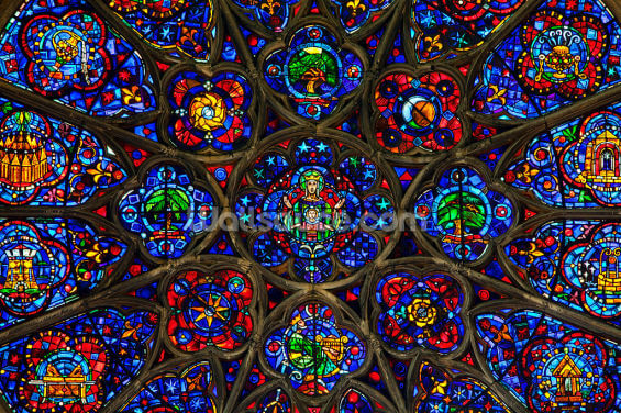 Notre Dame Window Wallpaper Wall Murals