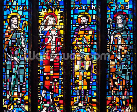 Holy Family Window Wallpaper Wall Murals