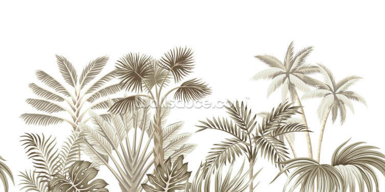 Subtle Jungle Wallpaper Wall Murals