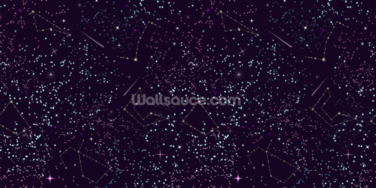 Meteors and Stars Wallpaper Wall Murals