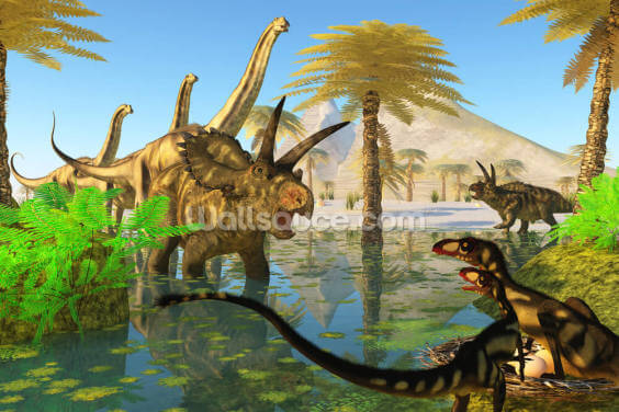 Cretaceous Swamp Wallpaper Wall Murals