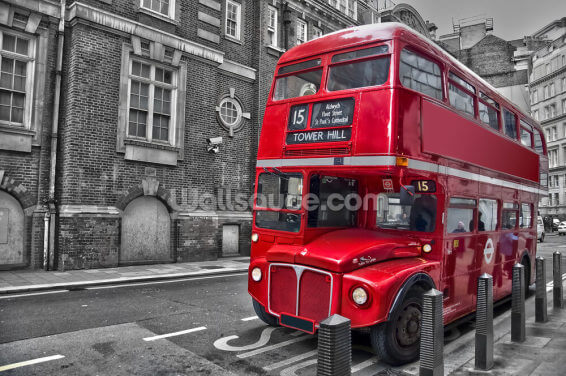 Red London Bus Wallpaper Wall Murals