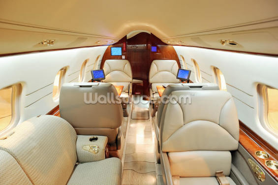 Interior of Luxury Jet Wallpaper Wall Murals