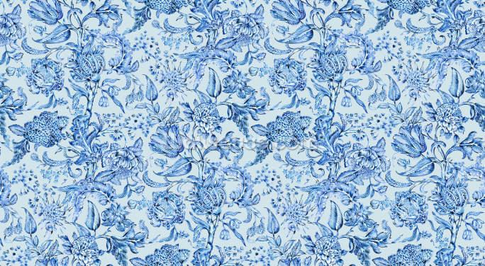 Royal Indigo Blue Wallpaper Wall Murals
