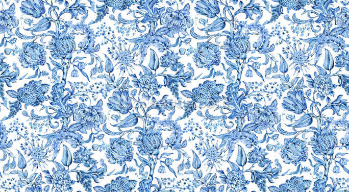 Royal Indigo White Wallpaper Wall Murals