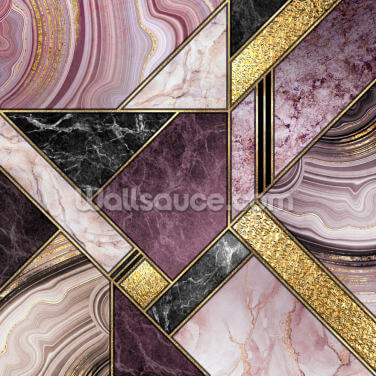 Purple and Gold Wallpaper Wall Murals
