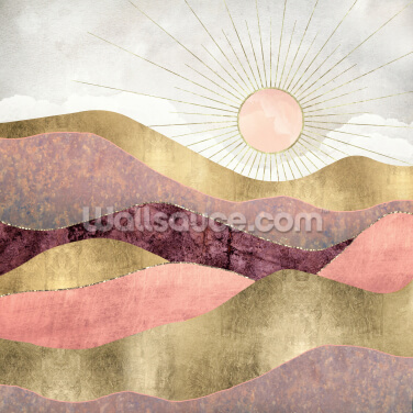 Blush Sun Wallpaper Wall Murals