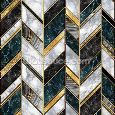 Black and Gold Art Deco Wallpaper Wall Murals