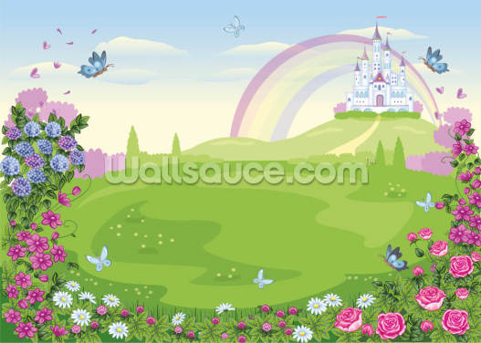 Floral Fairy Tale Land Wallpaper Wall Murals