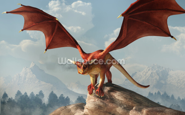 Ready to Pounce Dragon Wallpaper Wall Murals