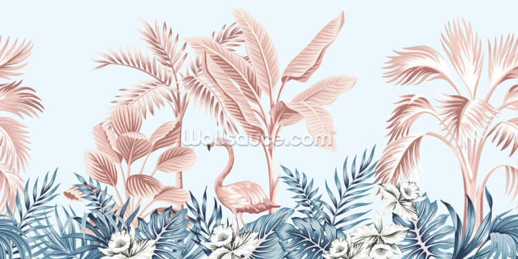 Flamingo Jungle Wallpaper Wall Murals