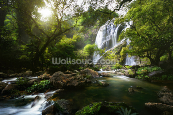 Mountain Stream Wallpaper Wall Murals