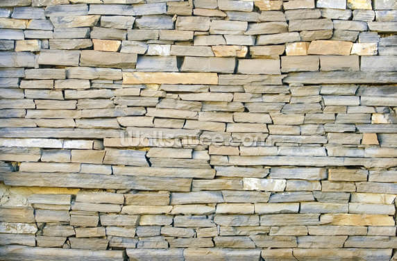 Stone Wall - Grey Wallpaper Wall Murals