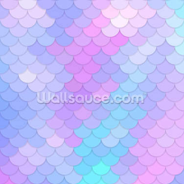 Pastel Mermaid Scales Wallpaper Wall Murals