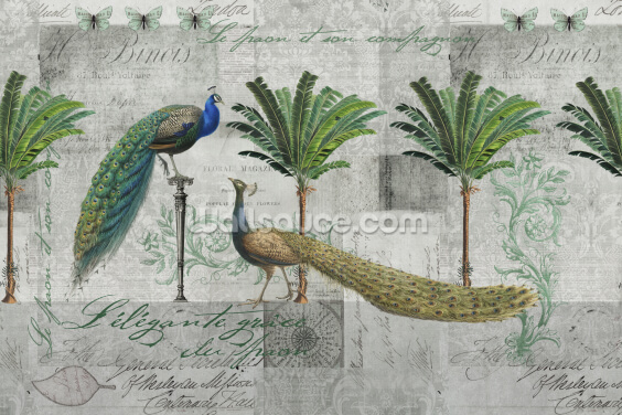 Elegance of Peacocks Wallpaper Wall Murals