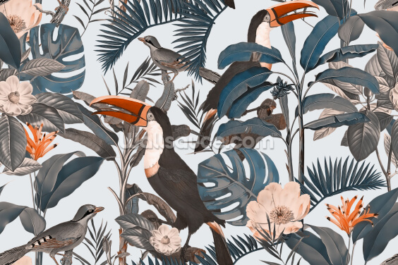 Tropical Vector Style Wallpaper Wall Murals