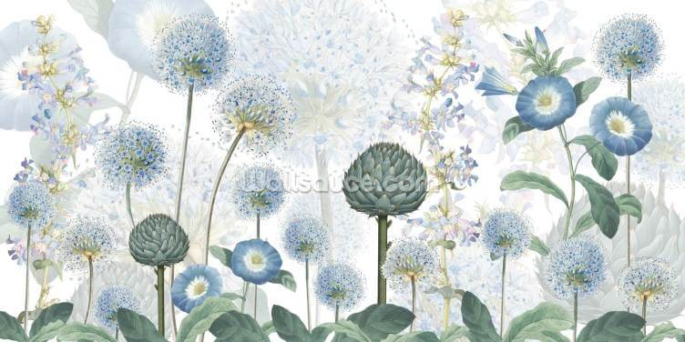 Blue Wild Meadow Wallpaper Wall Murals